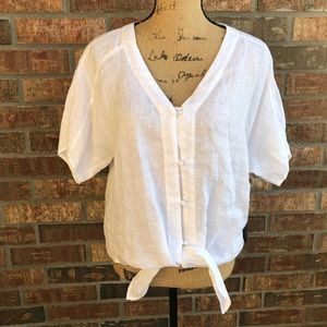 NEW! Front Tie Blouse